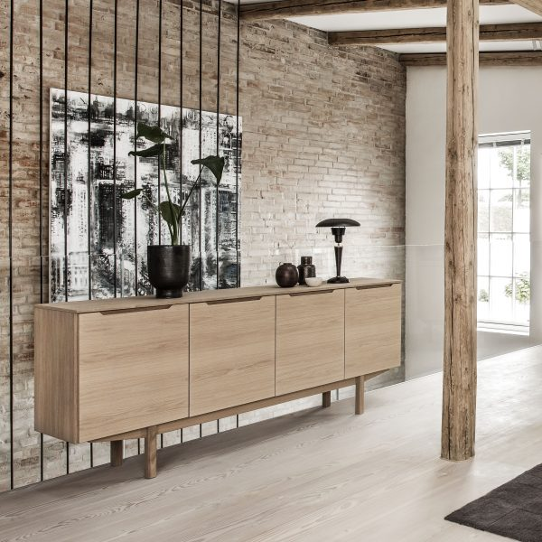 Skovby SM306 Sideboard, White Oak, on Angle