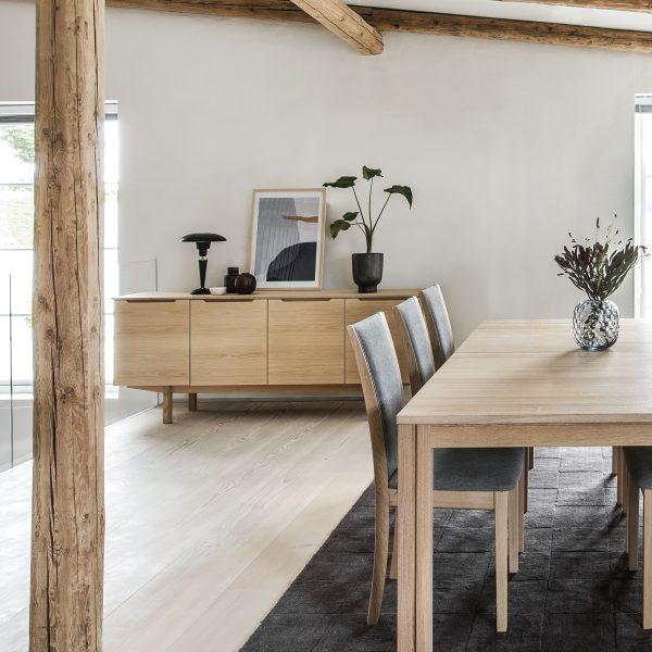 Skovby SM306 Sideboard, White Oak in Dining Room