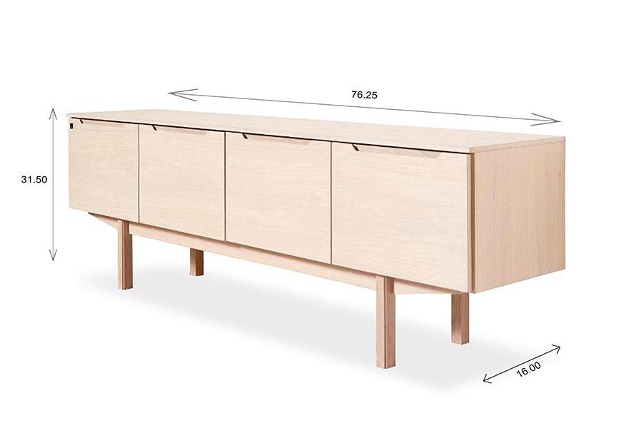 Skovby SM306 Sideboard Dimensions