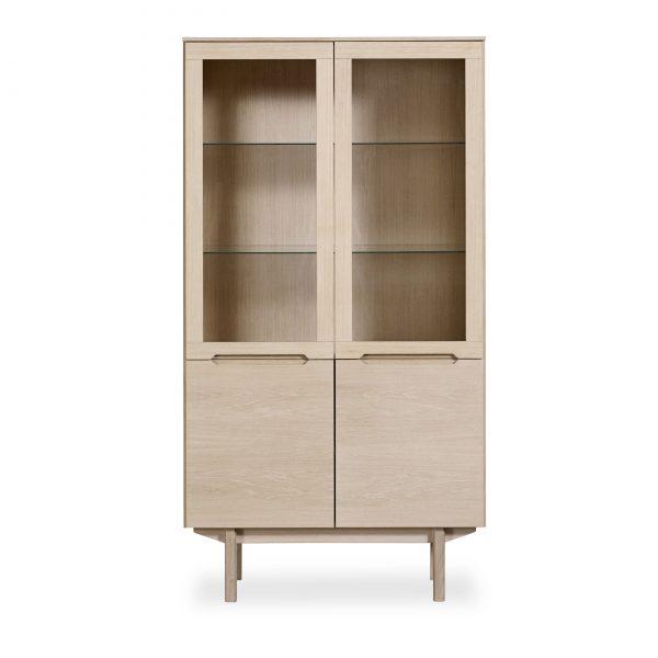 Skovby SM307 Display Cabinet, White Oak
