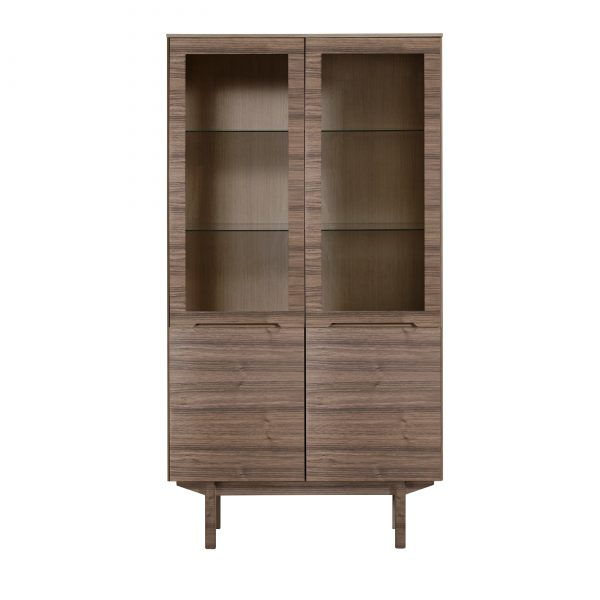Skovby SM307 Display Cabinet, walnut