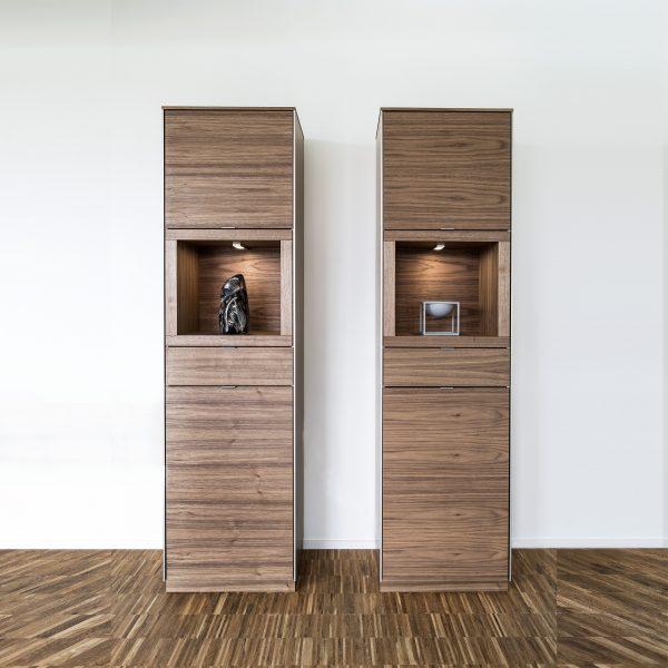 Pair of Skovby SM914 Display Cabinets in Oiled Walnut