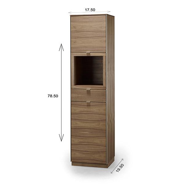 Skovby SM914 Display Cabinet Dimensions