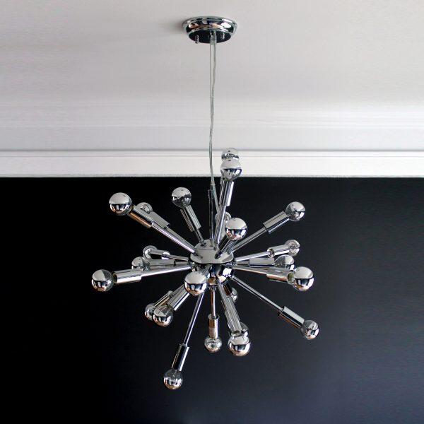 Sputnik Pendant Light, Black Wall