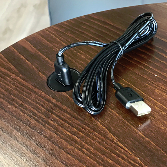 Stressless Alpha Table in Walnut, USB Cord