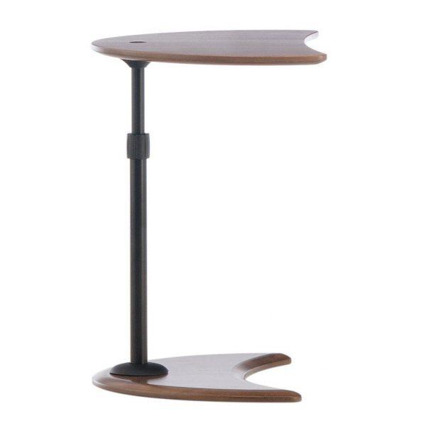 Stressless Alpha Table Walnut, Side View