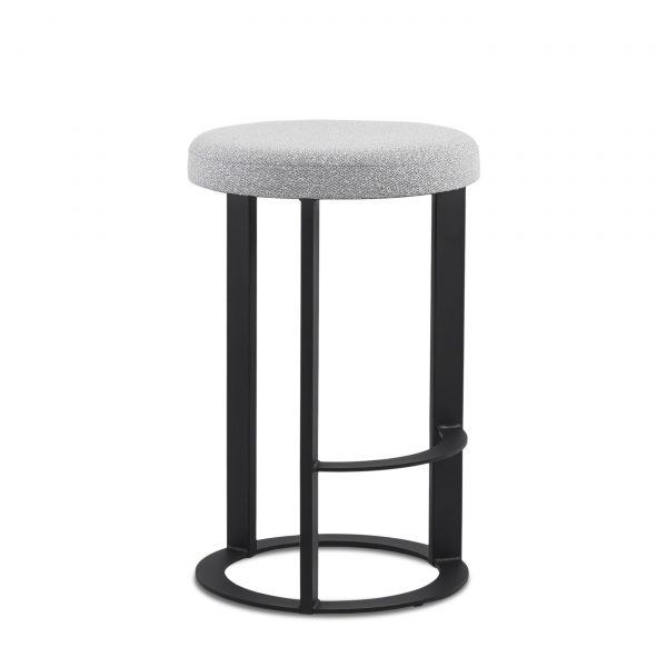 Allegro Counter Stool in Merino and Black Coral, Angle