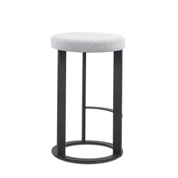Allegro Counter Stool in Merino and Black Coral, Back