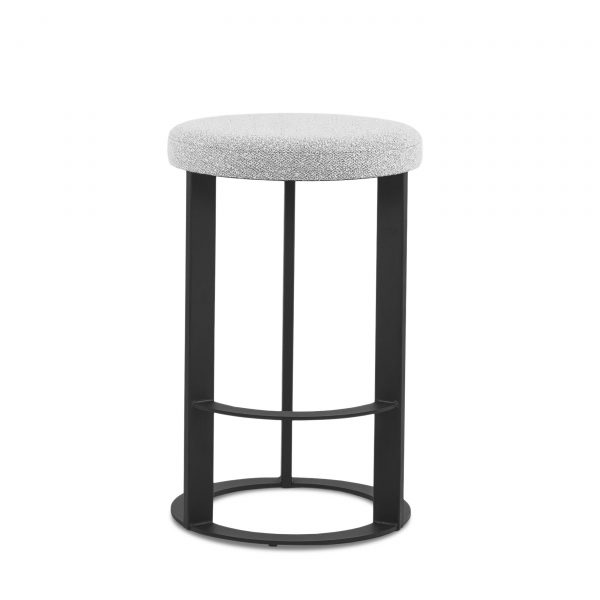 Allegro Counter Stool in Merino and Black Coral, Front