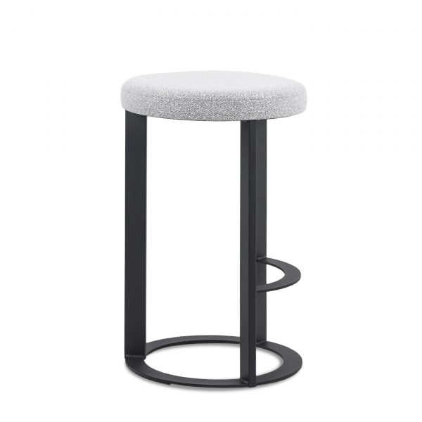 Allegro Counter Stool in Merino and Black Coral, Side