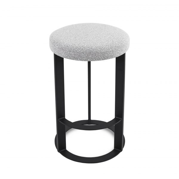 Allegro Counter Stool in Merino and Black Coral, Top Angle