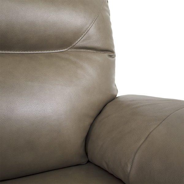 Briar Loveseat in Portabello Leather, Close Up