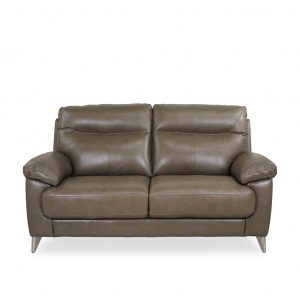 Briar Loveseat in Portabello Leather, Front
