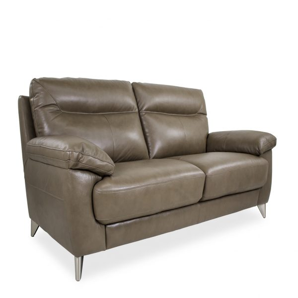 Briar Loveseat in Portabello Leather, Front Angle