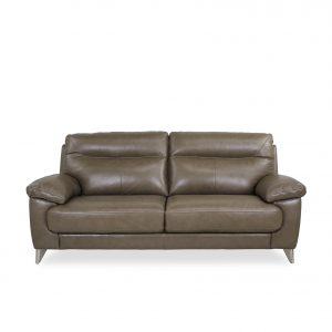 Briar Sofa in Portabello Leather, Front