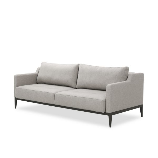 Brockton Sofabed in Grey Fabric, Front Angle