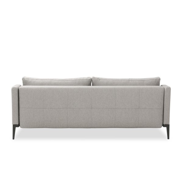 Brockton Sofabed in Grey Fabric, Back