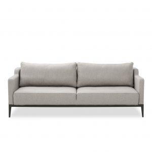 Brockton Sofabed in Grey Fabric, Front