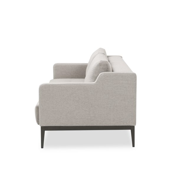 Brockton Sofabed in Grey Fabric, Side