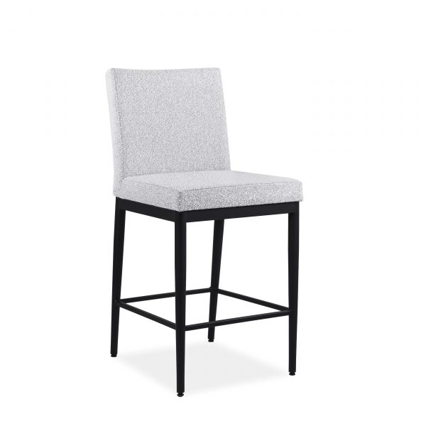 Monroe Counter Stool in Merino and Black Coral, Angle