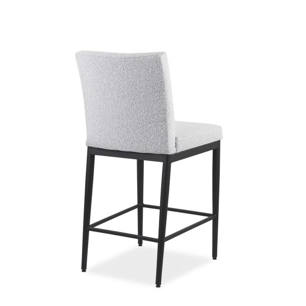 Monroe Counter Stool in Merino and Black Coral, Back