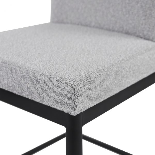 Monroe Counter Stool in Merino and Black Coral, Close Up