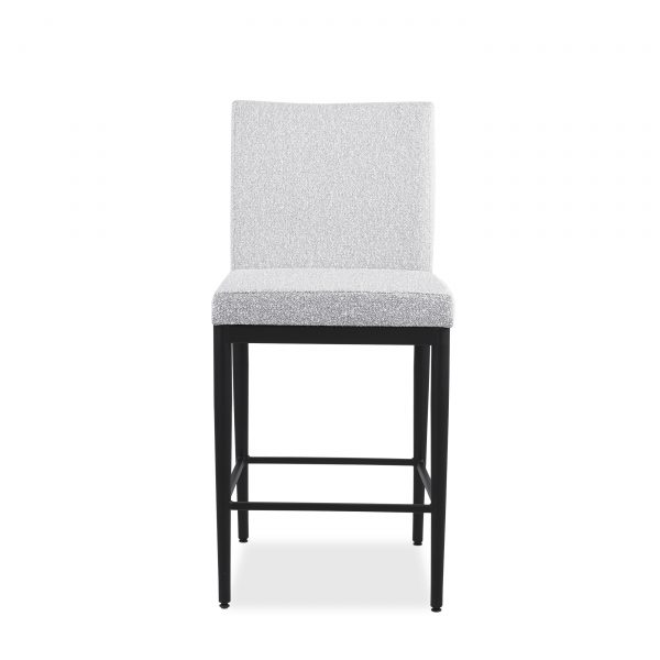 Monroe Counter Stool in Merino and Black Coral, Front