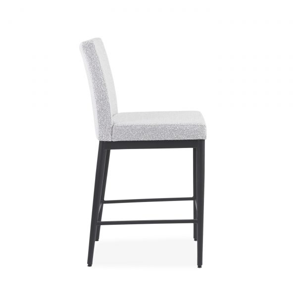Monroe Counter Stool in Merino and Black Coral, Side