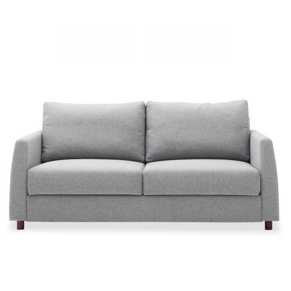 Nobel Sofabed in Light Grey Fabric, Front