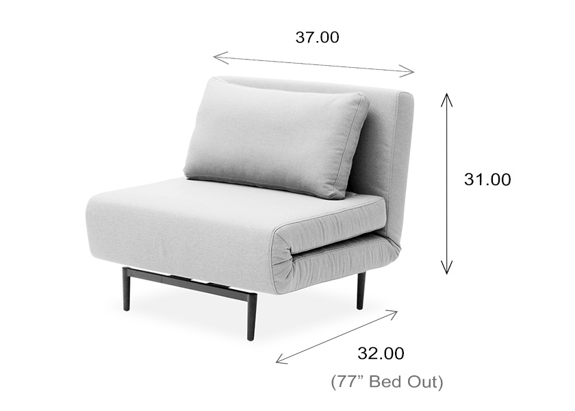 Oslo Chair Bed Dimensions