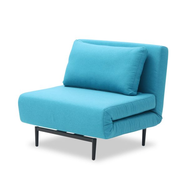 Oslo Chair Bed Teal Angle