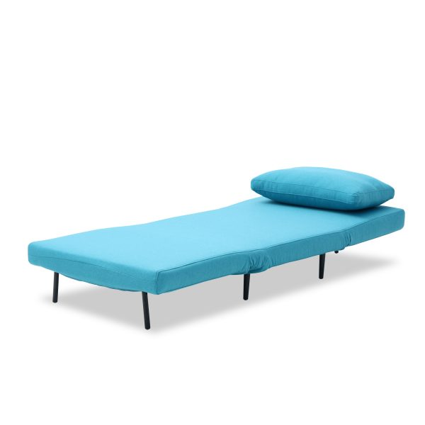 Oslo Chair Bed Teal Flat Pillow