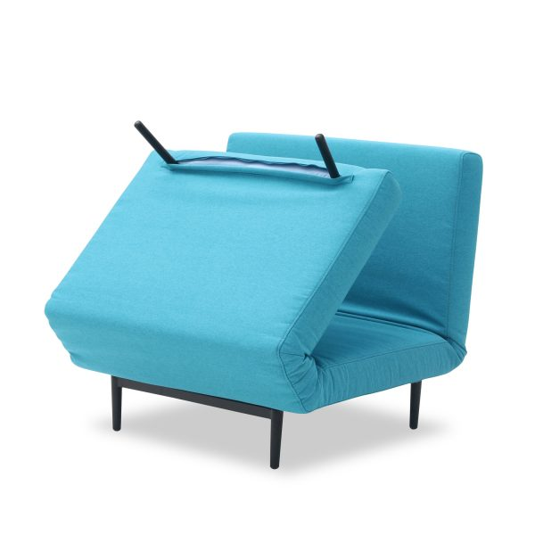 Oslo Chair Bed Teal Fold