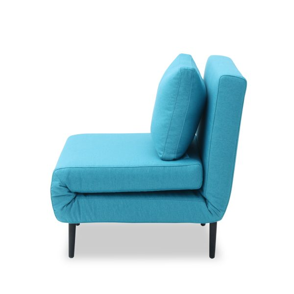 Oslo Chair Bed Teal Side