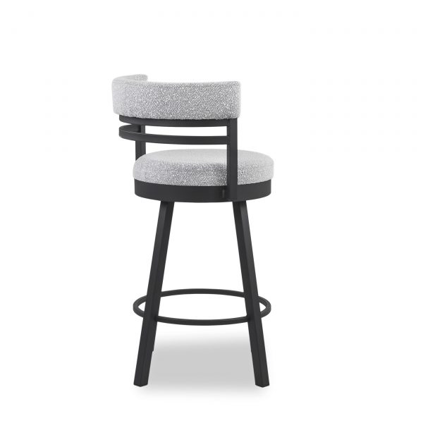 Ronny Swivel Stool in Merino and Black Coral, Back
