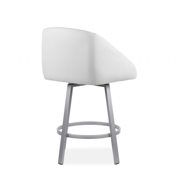 Wembley Swivel Stool in Parchment, Back