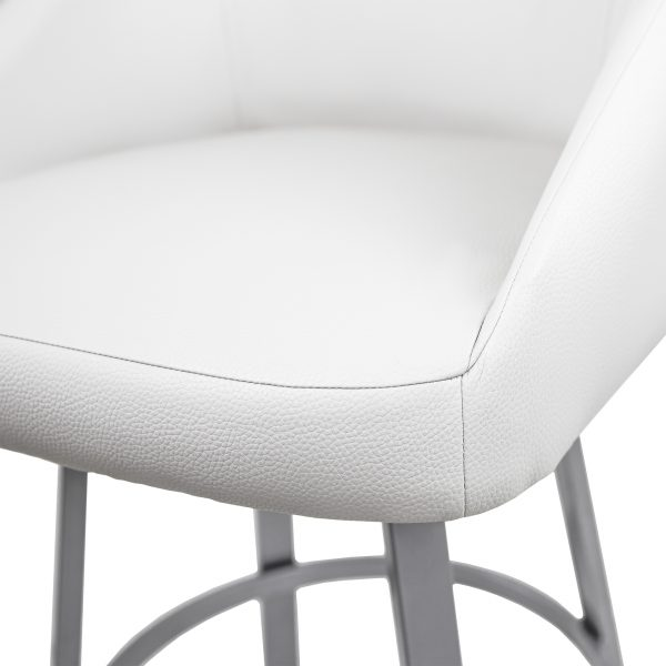 Wembley Swivel Stool in Parchment, Close Up