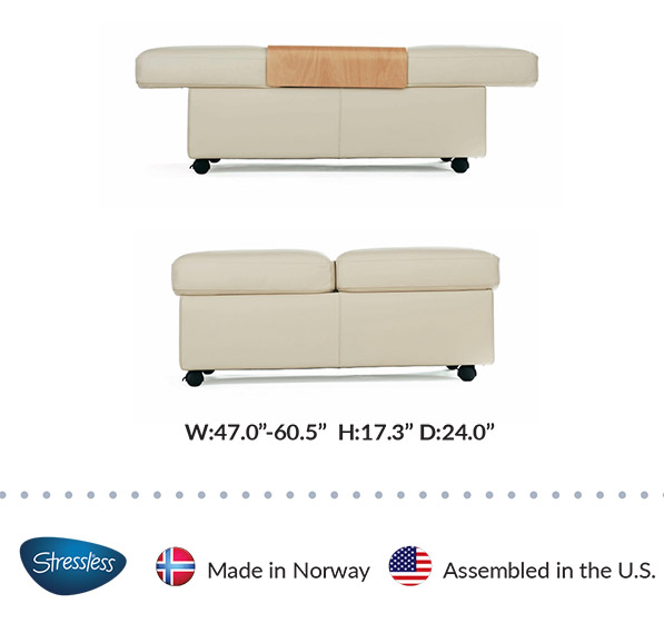 Stressless Double Ottoman Dimensions