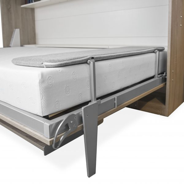 Horizontal Wall Bed and Desk, Bed Open, Leg Detail