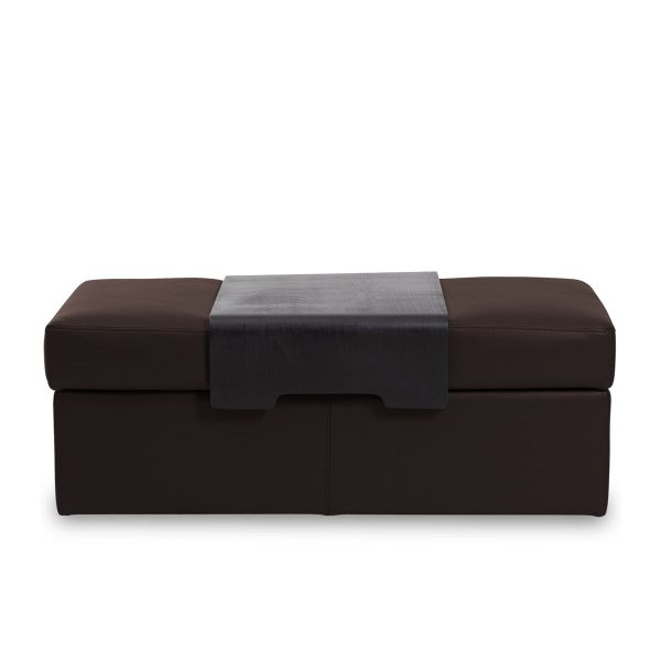 IMG DPALLHC Ottoman in Trend Chocolate Leather, Straight