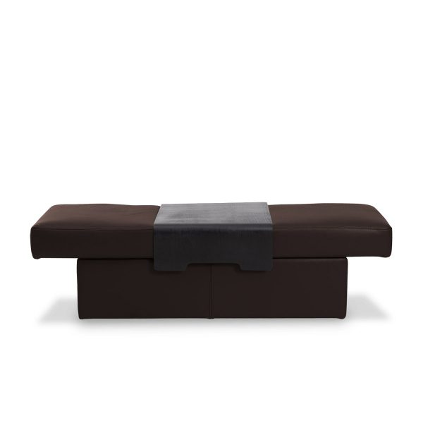 IMG DPALLHC Ottoman in Trend Chocolate Leather, Straight Expanded