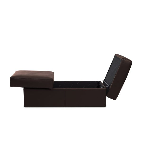 IMG DPALLHC Ottoman in Trend Chocolate Leather, Storage Open