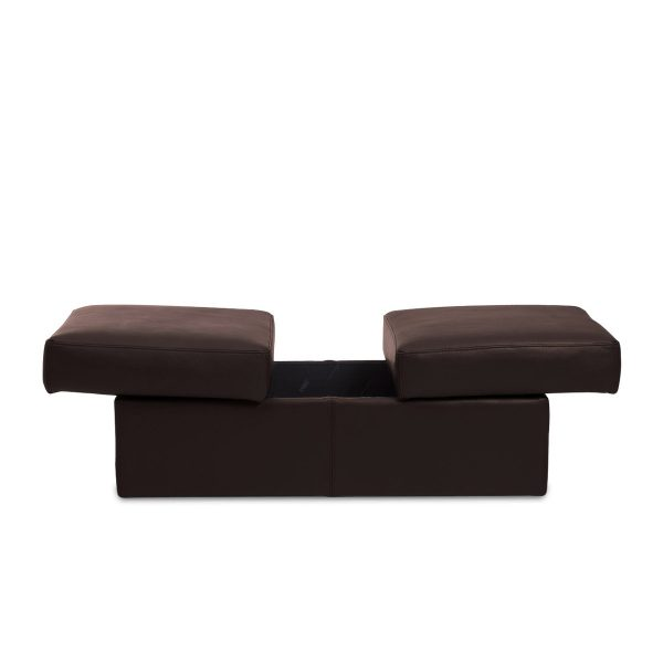 IMG DPALLHC Ottoman in Trend Chocolate Leather, Extended without Table