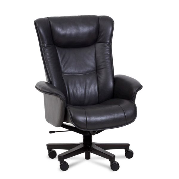IMG Windsor Office Chair in Trend Tuxedo Leather, Front