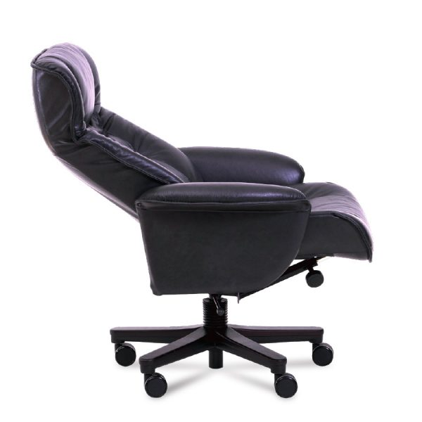 IMG Windsor Office Chair in Limosine Leather, Side