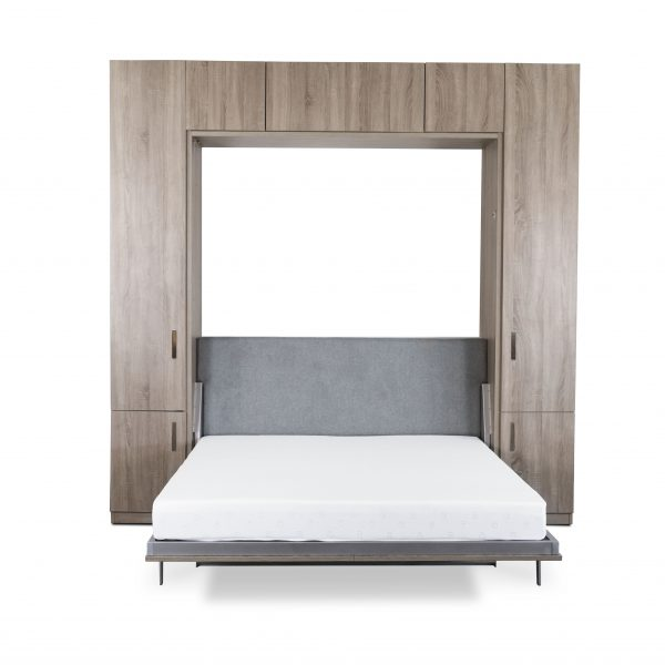 Tall Wall Bed and Desk, Bed Open