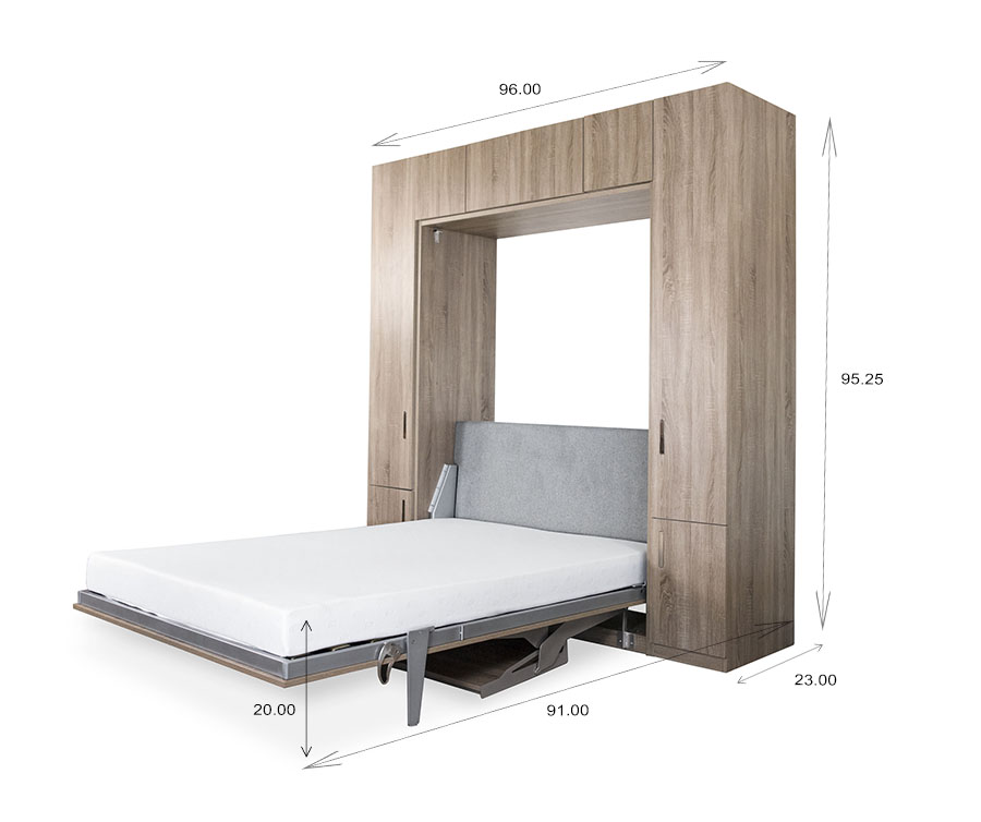 Tall Wall Bed and Desk Dimensions
