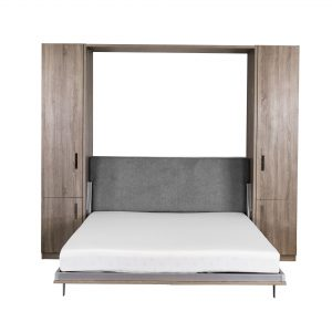Verticle Wall Bed and Desk, Bed Open, Doors Closed