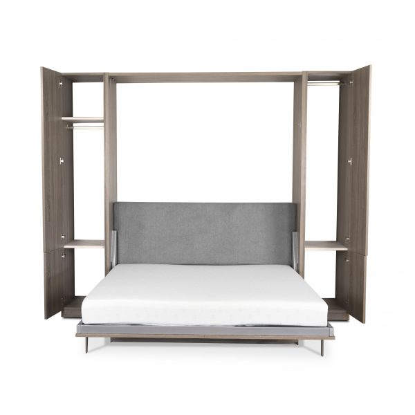 Verticle Wall Bed and Desk, Bed Open, Doors Open