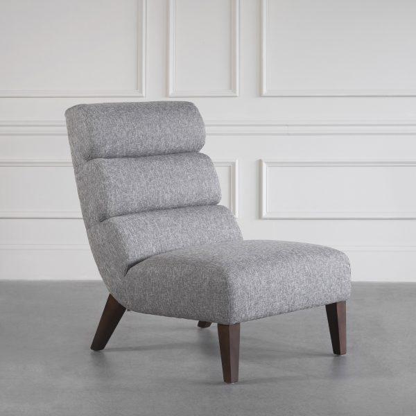 Isla Chair in B543 Light Grey, Angle